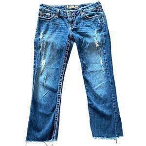 BKE Sabrina Distressed Crop Jeans 27